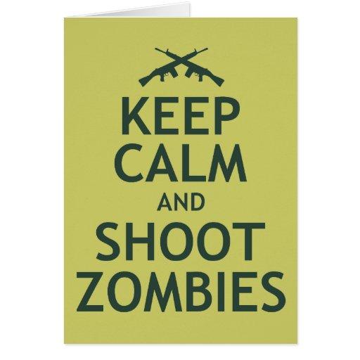 Mantenga los zombis tranquilos y del lanzamiento tarjetón