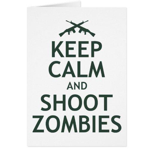 Mantenga los zombis tranquilos y del lanzamiento felicitaciones