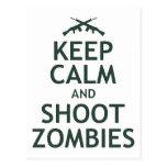 Mantenga los zombis tranquilos y del lanzamiento postal