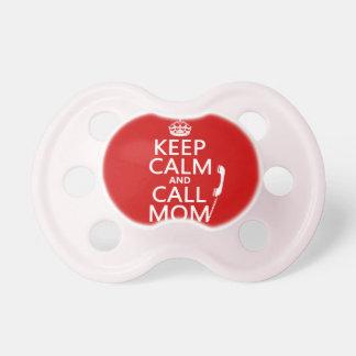 Mantenga mamá tranquila y de la llamada - todos lo chupete de bebe