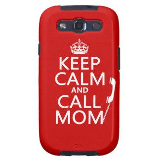 Mantenga mamá tranquila y de la llamada - todos lo galaxy s3 carcasa