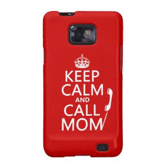 Mantenga mamá tranquila y de la llamada - todos lo galaxy SII carcasa