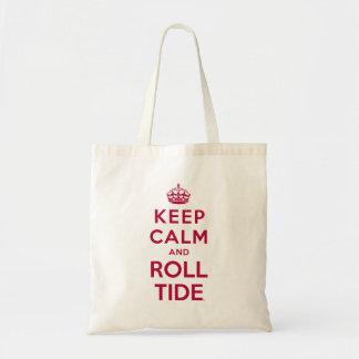 Mantenga marea tranquila y del rollo bolsa tela barata