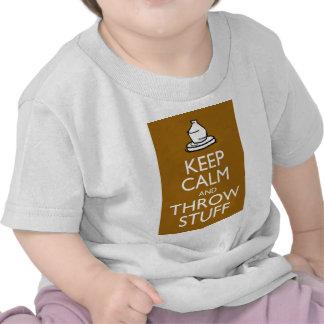 Mantenga materia tranquila y del tiro camiseta