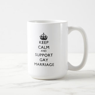 Mantenga matrimonio homosexual tranquilo y de la taza