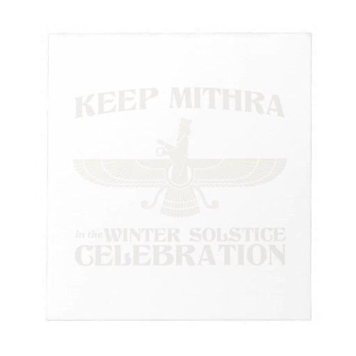 Mantenga Mithra la celebración del solsticio de in Bloc