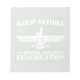 Mantenga Mithra la celebración del solsticio de in Blocs De Papel