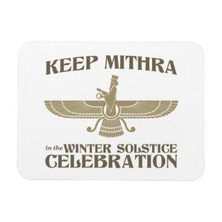 Mantenga Mithra la celebración del solsticio de in Imanes Flexibles