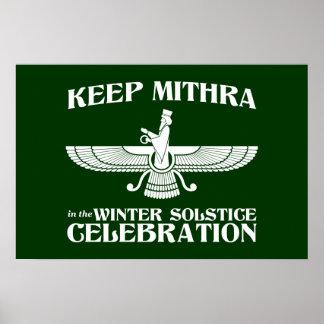 Mantenga Mithra la celebración del solsticio de in Impresiones