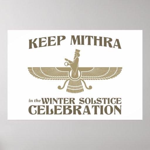 Mantenga Mithra la celebración del solsticio de in Póster