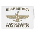 Mantenga Mithra la celebración del solsticio de in Tarjetas