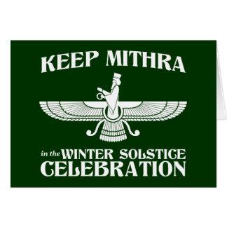 Mantenga Mithra la celebración del solsticio de in Tarjeta De Felicitación
