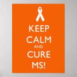 Mantenga ms tranquilo y de la curación - esclerosi poster