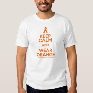 Mantenga naranja tranquilo y del desgaste - playeras