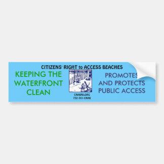 Mantenga nuestra costa limpia pegatina para auto