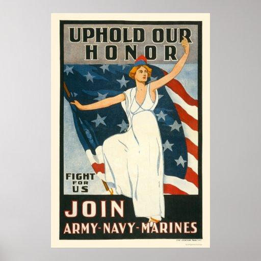Mantenga nuestro honor - únase a a la marina de gu impresiones