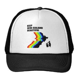 mantenga Nueva Zelanda hermoso Gorros Bordados