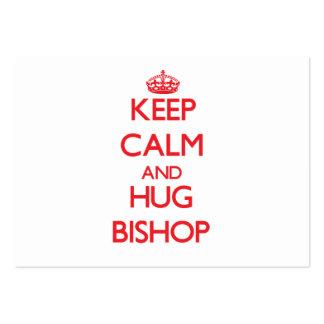 Mantenga obispo tranquilo y del abrazo tarjetas de visita grandes