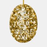 Mantenga ornamento tranquilo y de la chispa del adorno de navidad