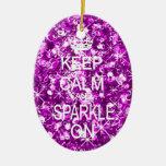 Mantenga ornamento tranquilo y de la chispa del na ornamento para reyes magos
