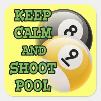 Mantenga piscina tranquila y del lanzamiento pegatina
