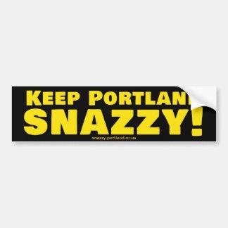 ¡Mantenga Portland elegante! Etiqueta De Parachoque