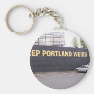 Mantenga Portland extraña Llavero Redondo Tipo Pin