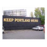 Mantenga Portland extraña Postal