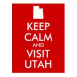 Mantenga postal tranquila y de la visita de Utah