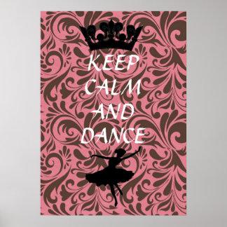 mantenga poster tranquilo y de la danza del ballet