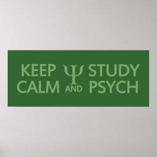 Mantenga poster tranquilo y del estudio de Psych d