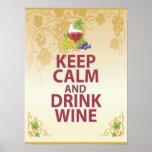 Mantenga poster único tranquilo y de la bebida del