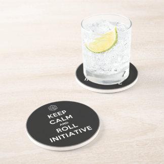 Mantenga práctico de costa tranquilo y del rollo d posavasos para bebidas