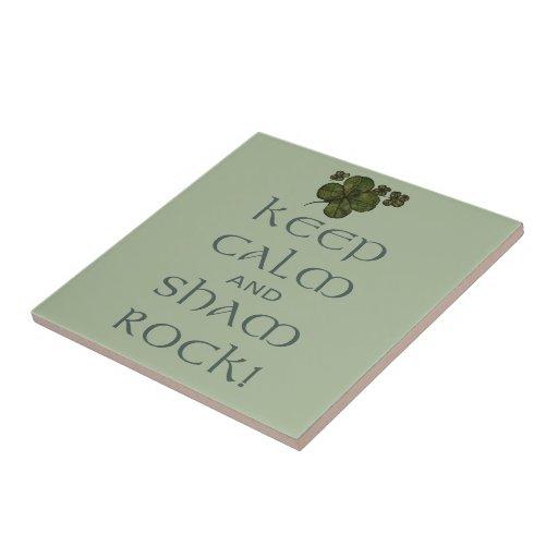 ¡Mantenga roca tranquila y del impostor! Teja