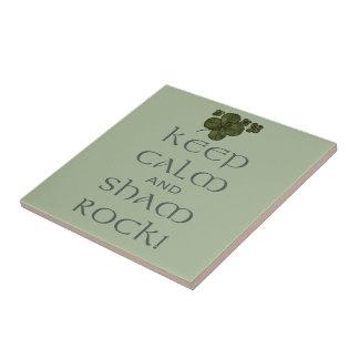 ¡Mantenga roca tranquila y del impostor! Azulejo Cuadrado Pequeño