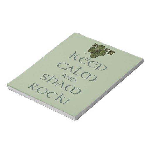 ¡Mantenga roca tranquila y del impostor! Libretas Para Notas