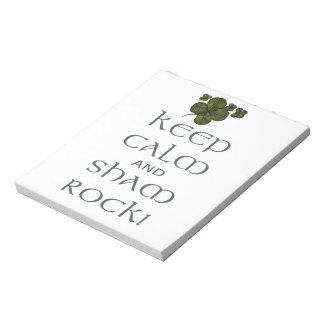 ¡Mantenga roca tranquila y del impostor! Blocs De Papel