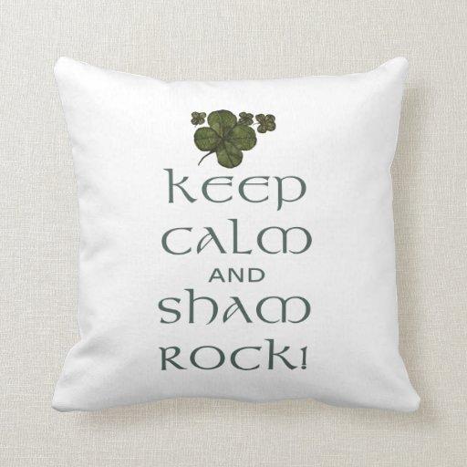 ¡Mantenga roca tranquila y del impostor! Almohadas