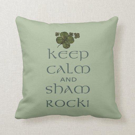 ¡Mantenga roca tranquila y del impostor! Cojin