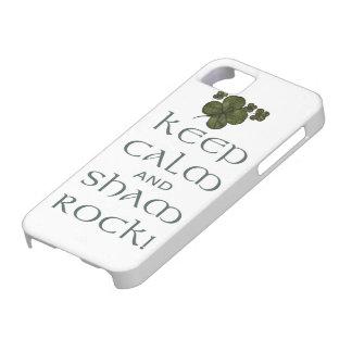 ¡Mantenga roca tranquila y del impostor! iPhone 5 Protectores