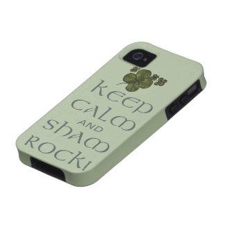 ¡Mantenga roca tranquila y del impostor! Funda Case-Mate Para iPhone 4