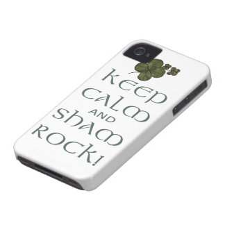 ¡Mantenga roca tranquila y del impostor! Funda Para iPhone 4 De Case-Mate