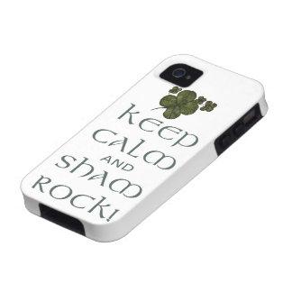 ¡Mantenga roca tranquila y del impostor! Funda Vibe iPhone 4