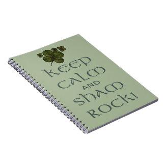 ¡Mantenga roca tranquila y del impostor! Libros De Apuntes Con Espiral
