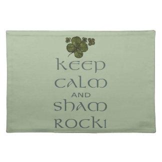 ¡Mantenga roca tranquila y del impostor! Mantel Individual
