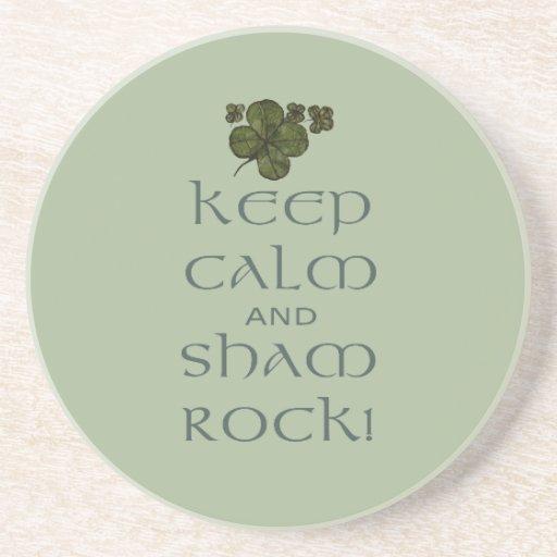 ¡Mantenga roca tranquila y del impostor! Posavasos Para Bebidas