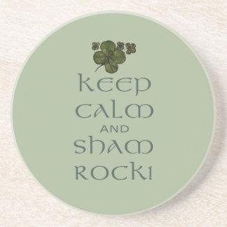 ¡Mantenga roca tranquila y del impostor! Posavasos Manualidades