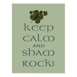 ¡Mantenga roca tranquila y del impostor! Postal