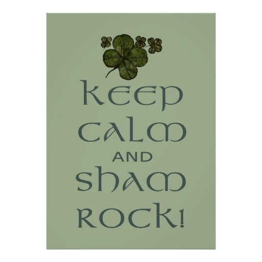 ¡Mantenga roca tranquila y del impostor! Póster