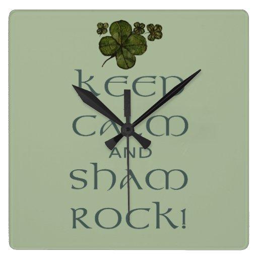 ¡Mantenga roca tranquila y del impostor! Relojes De Pared